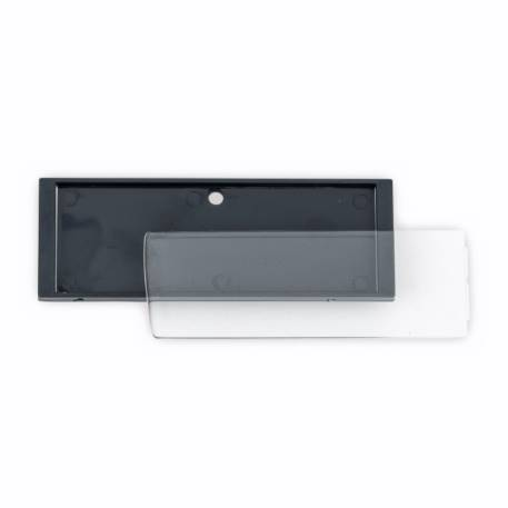 Rectangular Blank Magnetic ID Name Plate Badge - 66 x 21.5mm Thumbnail